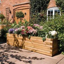 Large Patio Planter Wooden Box 1.8m Grow Plants Flowers Vegtables Garden Decor