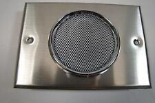 "RF-1 8Ω Wall Speaker 4-1/2"" x 6-3/8"" Stainless Mounting Plate NOS NIB"