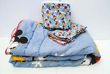 Disney Mickey Mouse & Friends Reversible Comforter Twin Size Bedding Skirt Sham
