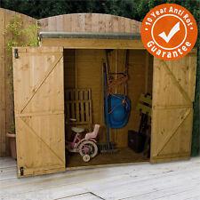 6x3 wooden overlap garden storage shed no window double doors pent roof 6ft 3ft