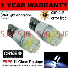 2x W5W T10 501 can bus blanco libre de errores SMD LED