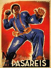 Anuncio de la guerra civil española no pasará anti fascistas arte cartel impresión lv7100