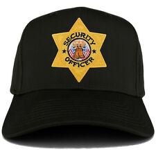 Security Officer Gold Star Badge Embroidered Iron on Patch Adjust. Baseball Cap