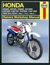2218 Haynes Honda XR50/70/80/100R & CRF50/70/80/100F (1985 - 2016) Manual