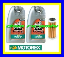 Kit Tagliando KTM 450 SX-F 09>10 Filtro Olio MOTOREX RACING 20W60 SXF 2009 2010