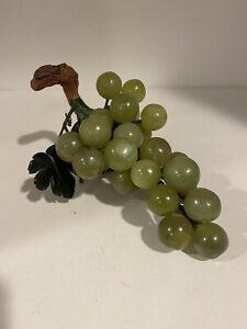Vintage Jade Stone Celadon Grape Cluster Alabaster Onyx Aventurine