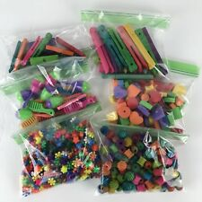 Kids Beads Mixed Lot Wood Plastic Large Small Multicolor Jewelry Crafts Counters