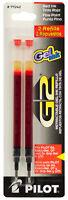 Pilot G2 Premium Gel Refills Red Ink Fine 0.7mm Point 2pk