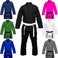 Max5 Full Blank Brazilian Jiu Jitsu Gi MMA Grappling Kimono Adult Uniform BJJ Gi