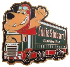 MUTTLEY DRIVES THE EDDIE STOBART SCANIA HGV DELIVERY TRUCK LORRY PIN BADGE