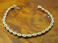 18kt 750 Weißgold Armband mit 0,72ct Brillant Besatz / Diamant / 12,7g / 18cm