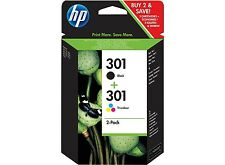 2 Cartuchos Tinta HP 301 (Negro y Color) Impresora 1000 1050 2000 2050 3000 3050