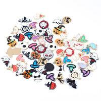 10x Halloween Bat Pumpkin Mix Style Enamel Charms Pendant DIY Jewelry Making YK