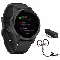 Garmin Vivoactive 4S Smartwatch (010-02172-11) w/ Wireless Sport Earbuds & More