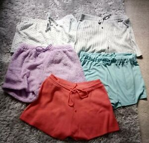 Womens Five Pair Assorted Lounge Shorts Size 12/14