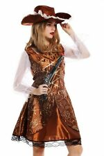 Costume Women's Carnival Halloween Baroque Pirate Seafarer SIZE S/M W-0041