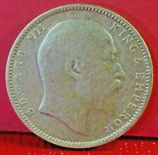 1904 BRITISH INDIA ONE RUPEE KING EDWARD VII SILVER COIN