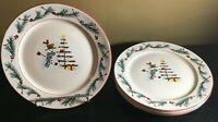 (4) Farberware HOLIDAY SNOWMAN Dinner Plates ****