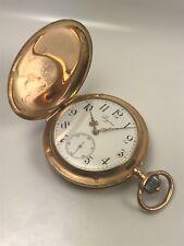 ANTIKE LONGINES SAVONETTE TASCHENUHR VON 1901 IN 585/000 GOLD - 112 GRAMM