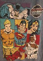 DC Comics Originals Justice League America T-Shirt Batman Superman Flash Size L