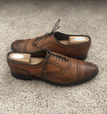 Allen Edmonds Strand Cap Toe Leather Oxfords, Men's Size 10.5D, Walnut