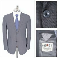 NWT CASTANGIA Gray Micro Houndstooth Super 130's Wool Sport Coat Jacket 48 R 38
