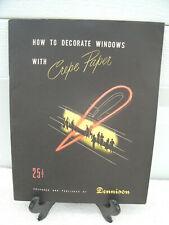 Dennison Crepe Paper--*How to Decorate Windows*--1949--Window Designs---Original