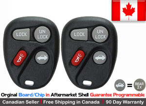 2x OEM Replacement Keyless Remote Key Fob For Buick Chevy Pontiac ABO1502T