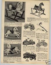 1953 PAPER AD Keystone Ride Em Locomotive Steam Roller American Character Dolls