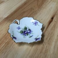 Rossetti Spring Violets Occupied Japan Maple Leaf Dish 1945 - 1952