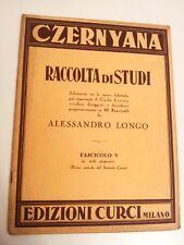 CZERNYANA - RACCOLTA DI STUDI - CARLO CZERNY - ALESSANDRO LONGO - FASCICOLO V