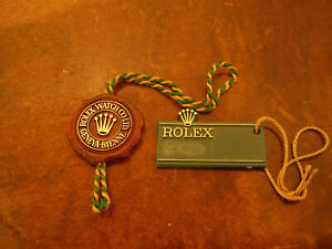 Vintage 70s 80s Rolex Pre Holo Red Tag and Blank Large Crown Green Tag