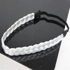 Women Girls Braided Faux Wig Elastic Rope Pretty Plaited Hair Band Headband