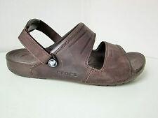 Crocs yukon two-strap Clog Sandale braun M 10  Gr. 43 44  sandals mahogany Leder