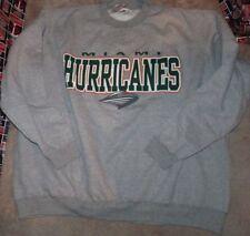 NEW NCAA Miami (Fla) Hurricanes Crew Sweatshirt Men 5XL XXXXXL NEW NWT