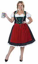 Classic Oktoberfest Fraulein Woman Dress Outfit Plus Size Costume 2xl