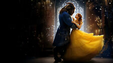 Beauty and the beast 2017 Emma Watson Silk Poster/Wallpaper 24 X 13 inches