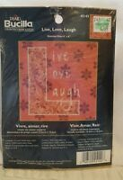Live, Love, Laugh Counted Cross Stitch Kit by Plaid Bucilla, New