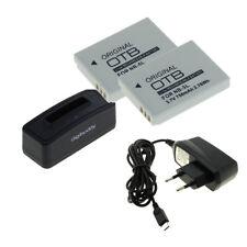 BATTERIA 2x per Canon nb-5l e USB Caricabatteria per Digital IXUS 90 is/800 is/850