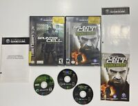 Gamecube Splinter Cell Double Agent & Stealth Action Redefined Game Lot!!