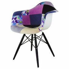 FASHION COMMERCE Poltroncina Patchwork Floreale in polipropilene gambe in faggio