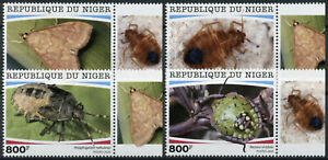 Niger Insects Stamps 2020 MNH Parasites Shieldbugs Stink Bugs Moths 4v Set