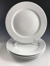 "Set of Four (4) WILLIAMS-SONOMA 11¼"" WHITE DINNER PLATES - SMOOTH RIMS"