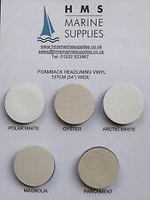Sample Card for vinyl foambacked headlining - 5 colours - boats, vehicles etc