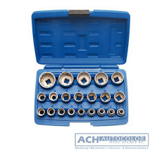 21-piece 1/2 12-pt. Socket set 8-36 mm - Code Bgs2267 BGS Workshop