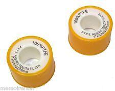 Jeu de 2 ruban bande de PTFE téflon pour joints de robinetterie plomberie C1058
