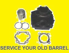 SERVICE BARREL NEW RE BORE PISTON KIT FULL GASKET SET YAMAHA DT 125 R DTR