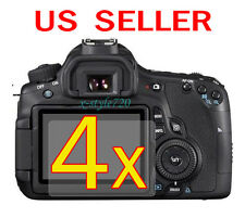 4x Canon EOS 60D Clear LCD Screen Protector Guard Shield Film