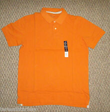 Mens shirt  Orange  Short sleeve polo Medium M Med 40 NEW