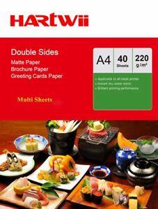 A4 Matte Matt Double Sided Photo Paper 220Gsm Inkjet Paper 100-1000 Sheets
